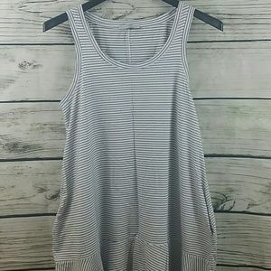 Zara Trafaluc Striped Cotton Dress